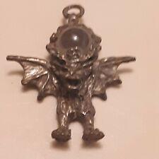 Pewter Crystal Flying Gargoyle Pendant
