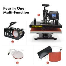 4 In 1 LCD Timer Heat Press Transfer Machine Multi-function For T-shirt Cap Mug