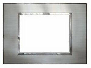 Legrand ARTEOR 770-SERIES COVER PLATE For Switch, Horizontal, Stainless Steel