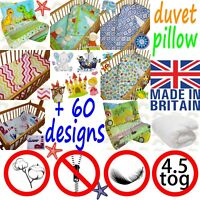cot DUVET 4.5 TOG crib BEDDING set DUVET PILLOW  bundle nursery boy girl BED