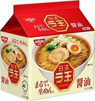 Nissin Raoh Japanese Instant Ramen Noodles Soy sauce 5 packs Japan Import