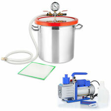 Vakuumpumpe Unterdruckpumpe Vakuumkammer Vacuum Set 100 l/min + 21,4L