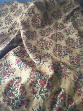"""HEAVY THICK CHENILLE LINED BESPOKE DRAPES 106"""" W  X 92"""" L WITH HOLD BACKS"""
