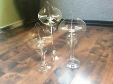 Vintage 80�s Callalily Oil Candles Lamp Set Of 3 Hand Blown Glass