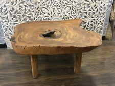 Timber Slab Coffee Table Rustic Freeform Edge