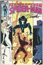 Web of Spiderman #94 SIGNED by Jim Shooter AND Al Milgrom Marvel Comics Art