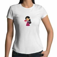 Juniors Girl Women Tee T-Shirt Gift Shirts Walt Disney Princess Mulan Cartoon