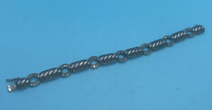 Judith Jack Bracelet 925 Sterling Silver Marcasite Cable Rope Link Nautical
