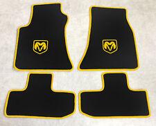 Autoteppich Fußmatten für Dodge Challenger ab Bj.2008 Velours sw. gelb 4tlg. Neu