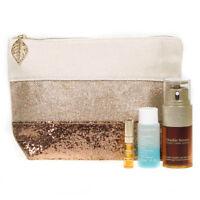 Clarins 30ml Double Serum Gift Set + Eye Make-Up Remover + Lip Comfort Oil