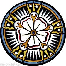 COLORATO VETRO FINESTRA ARTE-STATICO aggrapparsi Decorazione-Bagno Abbey Tudor Rose