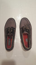"Mens Gray & Black Leather ""Sperry Top-Sider A/O"" Boat Shoes - Size US 8M"