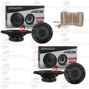 4 x KENWOOD KFC-1666S 6.5 INCH 2-WAY CAR AUDIO DOOR COAXIAL SPEAKERS 300W MAX