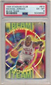 MICHAEL JORDAN 1995/96 STADIUM CLUB #14 BEAM TEAM CHICAGO BULLS SP PSA 6 EX-MT