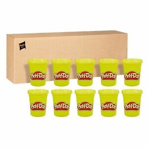 NEW - Play-Doh Bulk 12-Pack of Yellow Non-Toxic Modeling Compound, 4-Ounce Cans