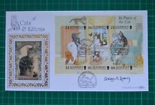 Alderney 1996 In Praise of the Cat Benham FDC Signed Lesley Anne Ivory