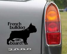 Car Bumper Sticker FRENCH BULLDOG ON BOARD Sticker Dog Decal Bulldog owners