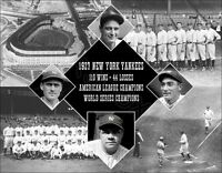 1927 New York Yankees Composite Photo 11X14 - Ruth Gehrig Lazzeri Combs Bronx