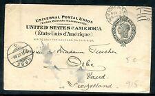 Etats Unis - Entier postal de New York en 1907 pour la Suisse
