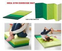 IKEA PLUFSIG Fitness, Yoga Exercise Folding gym mat, green NEW FAST & FREE POST