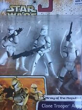 Star War Clone Wars Army of the Republic Clone Trooper Army builder 3 pack WHITE