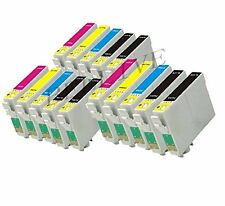 15 CARTUCCE PER STAMPANTE EPSON T0711 T0712 T0713 T0714 CON CHIP Stylus DX4400