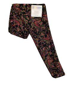 LuLaRoe OS Women's Leggings #3604 - Paisley Floral on Black - Original One Size
