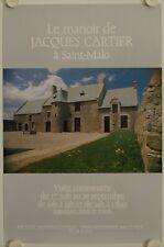 Affiche Tourisme LE MANOIR DE JACQUES CARTIER à Saint-Malo