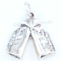 CHAPS Charm Cowboy Horse Jewelry Western Pendant Sterling Silver solid 925 3D