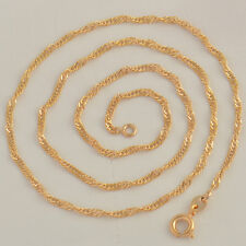 Fashion Jewelry Yellow gold filled womens mystic  wave chain necklace 18inches