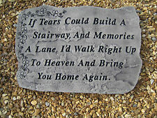 memory stone graveside memorial (If tears)