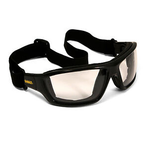 Dewalt Converter Safety Glasses Goggles In/Out  Anti Fog Lenses Foam Padded