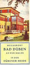 Heilkurort Bad Düben an der Mulde Prospekt DDR 1953