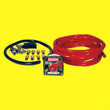 QuickCar Battery Cable Kit with 4 Gauge Kit Battery Disconnect Kit Race Wiring