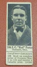 1924-25 Dominion Chocolate Hockey Card Red Porter #106