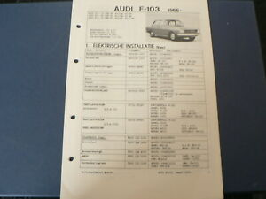 AT143 AUDI F-103 1966 72, 80, 90   INFO TECHNICAL CAR AUTO