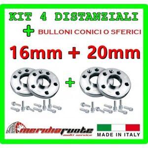 KIT 4 DISTANZIALI PER FIAT PUNTO 176 176C 1993 - 1999 PROMEX ITALY 16mm + 20mm S