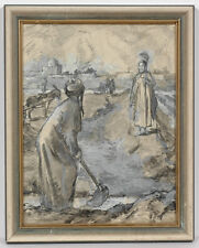 "Irina Soboleva (b. 1920) ""In Turkmenia"", Drawing, 1946"