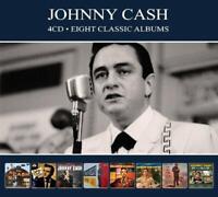 JOHNNY CASH - 8 CLASSIC ALBUMS Digipak  4 CD NEU