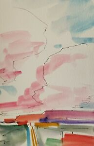 Jose Trujillo Signed Watercolor On Paper Painting Impressionism 9x6 Small Decor