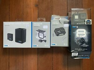 GoPro Hero 8 Black Video Camera 3 Batteries, Dual Charger, Cases & Accessories