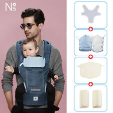[POGNAE] NO5 PLUS all in one baby carrier-denim blue