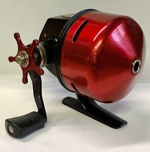 Vintage Garcia Abu-Matic Model 170 Red & Black Spin Cast Fishing Reel Sweden WoW