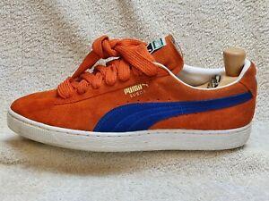 Puma Suede mens Comfort trainers Orange/Navy/White UK 9 EUR 43 US 10