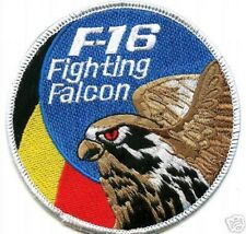 F-16 SWIRL COLLECTIONS: BELGIUM AIR FORCE BAF F-16 SWIRL F16 EMBROIDERED PATCH