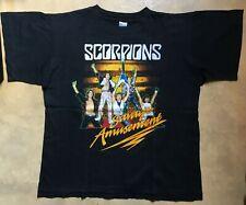 T SHIRT SCORPIONS SAVAGE AMUSEMENT TOUR 1988 VINTAGE TAILLE L BLACK SHIRT