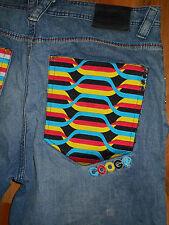 COOGI Jeans Mens 42x35 Blue Denim Pants Australian Factory Distressed 5J42