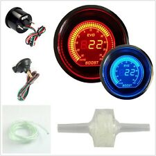 "2"" 52MM RED & BLUE Digital Boost Vacuum Gauge Electric Boost EVO Series VN New"