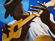 OLD BLUES MAN PRINT poster mississippi delta bottleneck blues slide kay guitar