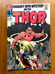 JOURNEY INTO MYSTERY -THOR 121 - SILVER AGE MARVEL COMICS Absorbing Man Fight